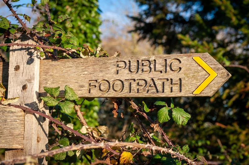 Public footpath sign, West Sussex_71335