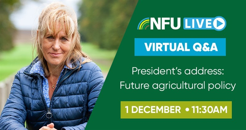 Joining instructions: President's virtual address on future agricultural policy