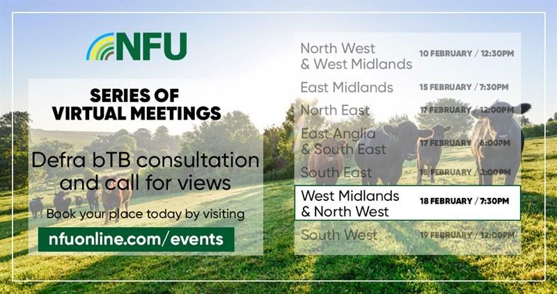 NFU virtual meeting: Defra bTB Consultation West Midlands & North West