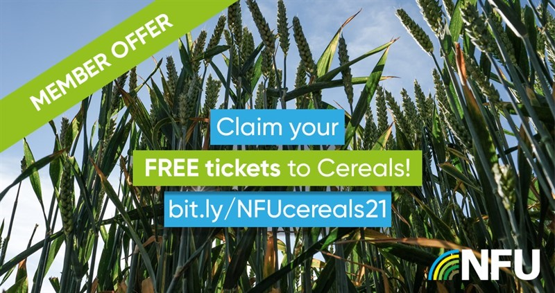 NFU members: FREE tickets to Cereals 2021