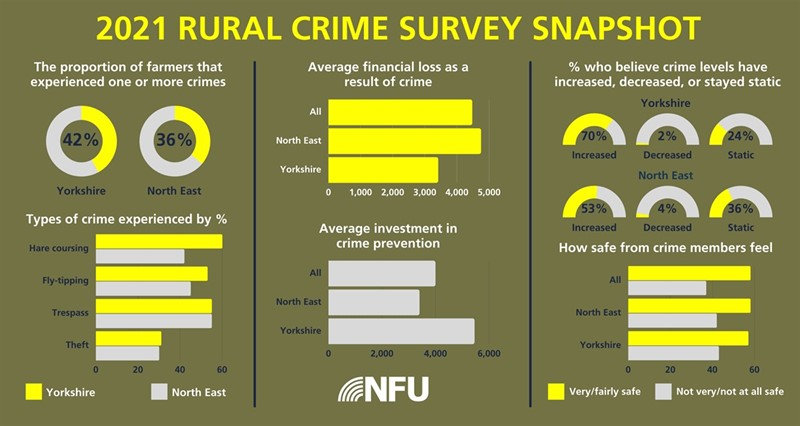Graphic showing snapshot of rural crime survey results in the North East_77932