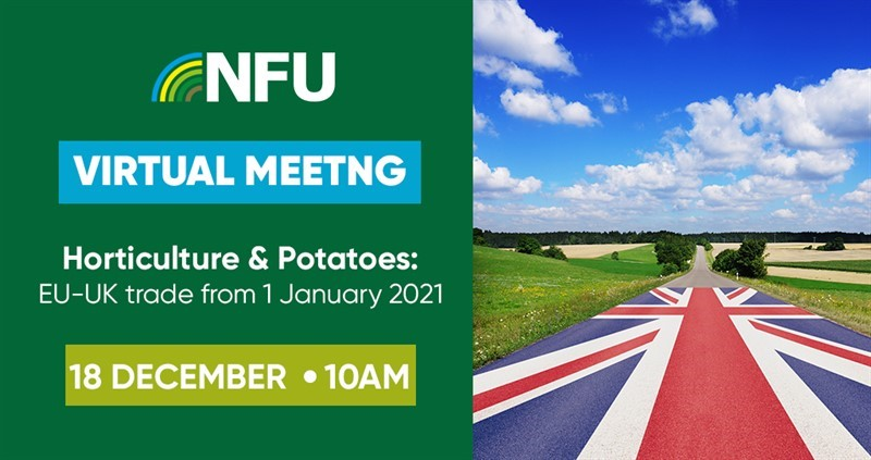 NFU horticulture and potatoes virtual update and Q&A: EU-UK trade from 1 January 2021_76089