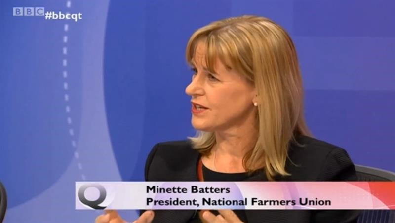 NFU President Minette Batters on the BBC's Question Time programme, February 2020_72093
