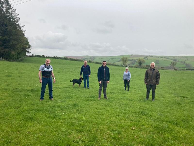Brecon and Radnor MS visit on farm_78741
