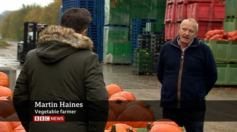 bbc news at six 27.10.20 seasonal labour martin haines_75383