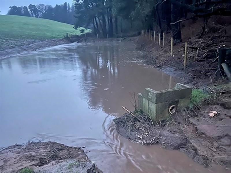 Flooding on Phil Latham's farm. Jan 2021.Credit: Phil Latham_76740