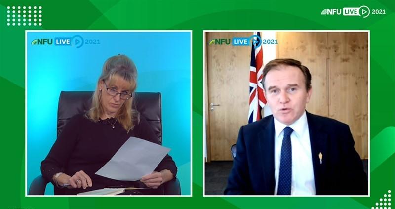 NFU21: Defra Secretary of State George Eustice announces Sustainable Farming Incentive pilot