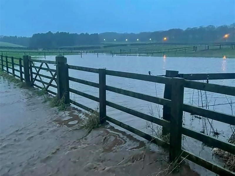Flooding on Phil Latham's farm. Jan 2021.Credit: Phil Latham_76741