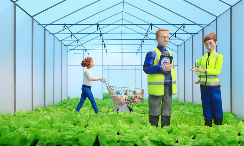 Red Tractor advert March 2021 Green House sprinkler scene_77679