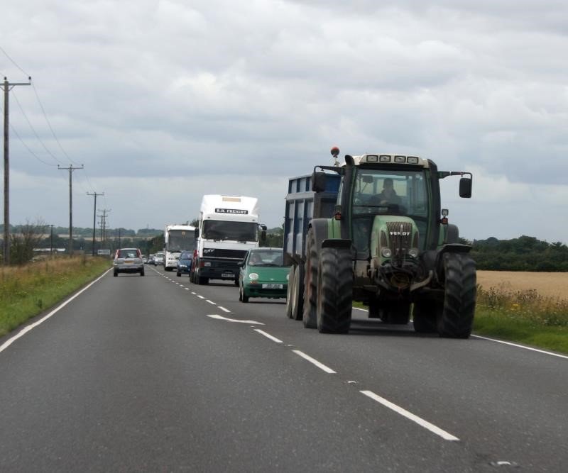 Tractor on road_9814