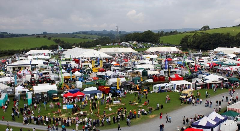Aerial shot of Westmorland Show_17162