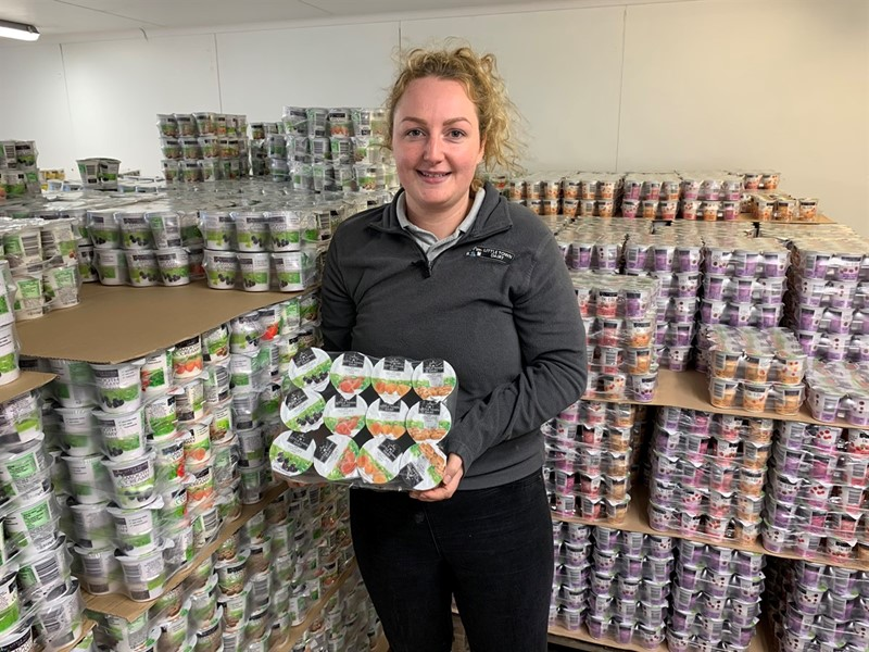 Laura Forshaw with Little Town Yoghurts_78440