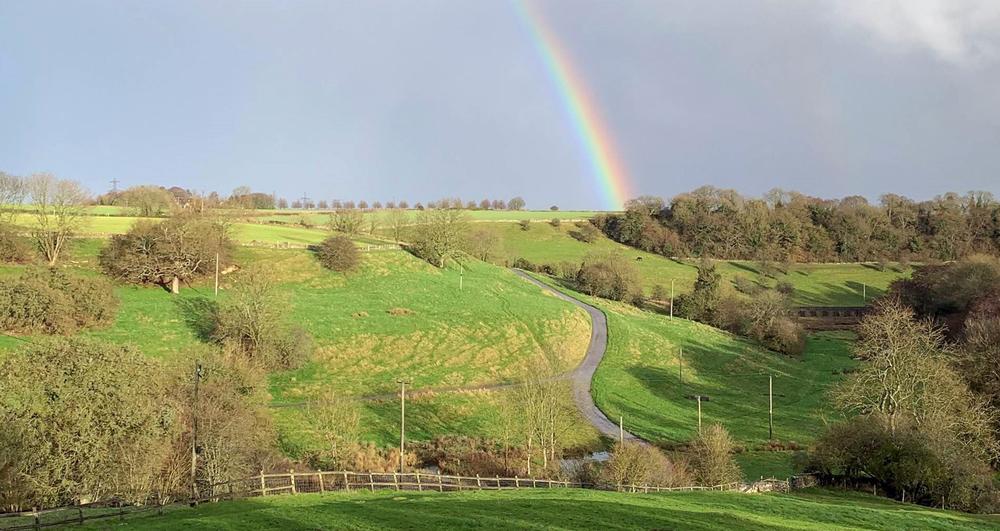 Rainbow over Nick Bush's farm