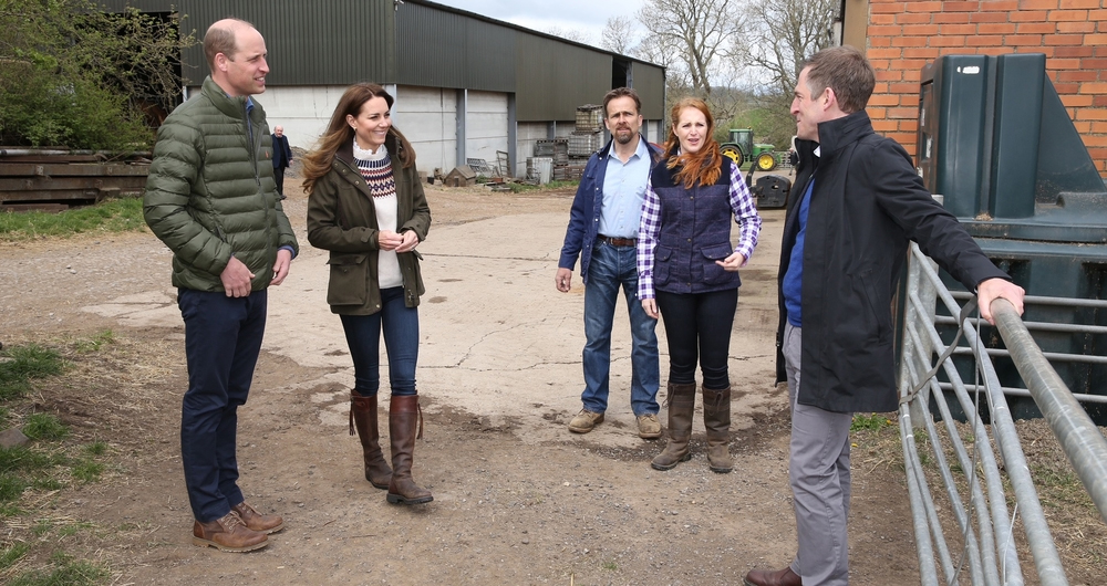 Duke and Duchess of Cambridge visit farm in County Durham