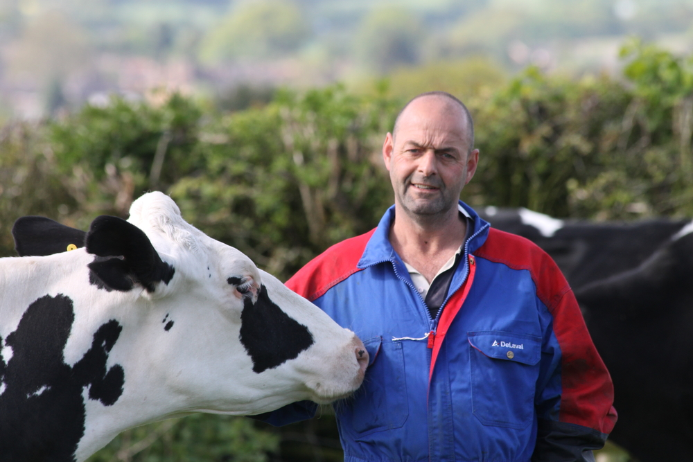 Michael Oakes on farm