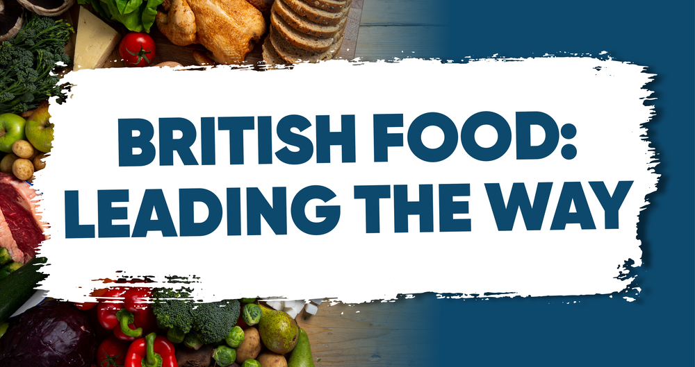 An image representing the NFU's British Food: Leading The Way report launched on Back British Farming Day 15 September 2021