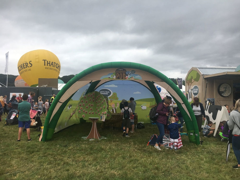 A photograph of the Discovery Pod at Bristol Balloon Fiesta
