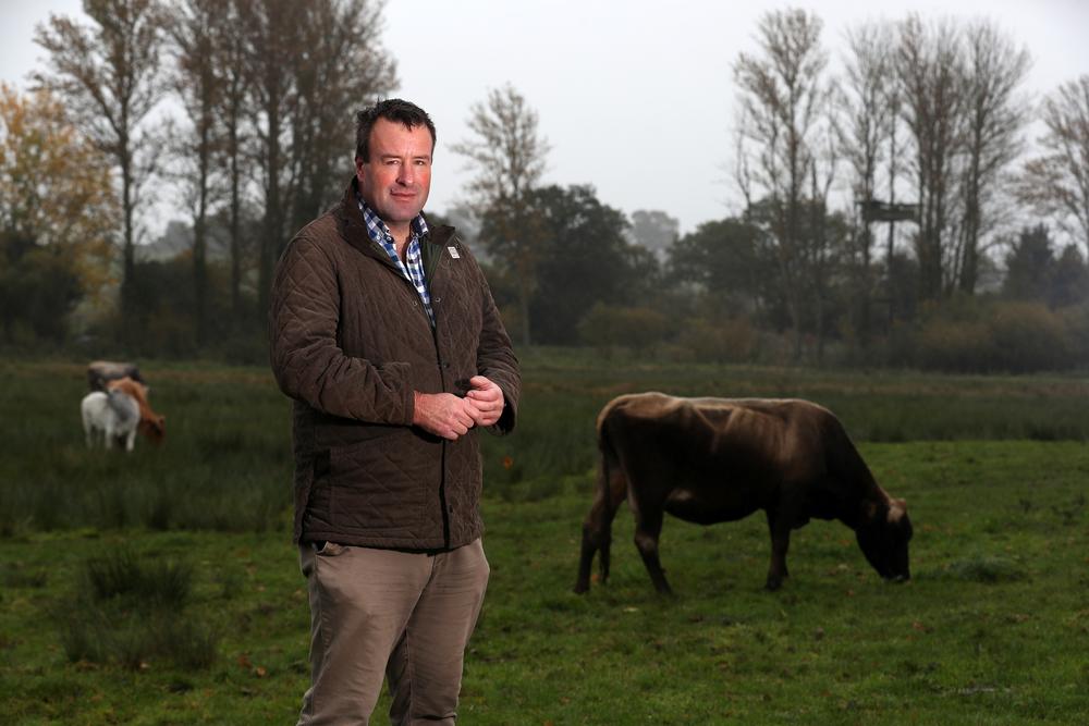 Vice President Stuart Roberts at a farm in Hertfordshire