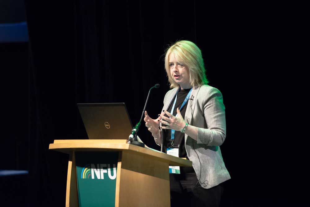 Cat McLaughlin, Chief Animal Health and Welfare Adviser, NFUspeaking during the animal health session at NFU Conference 2020