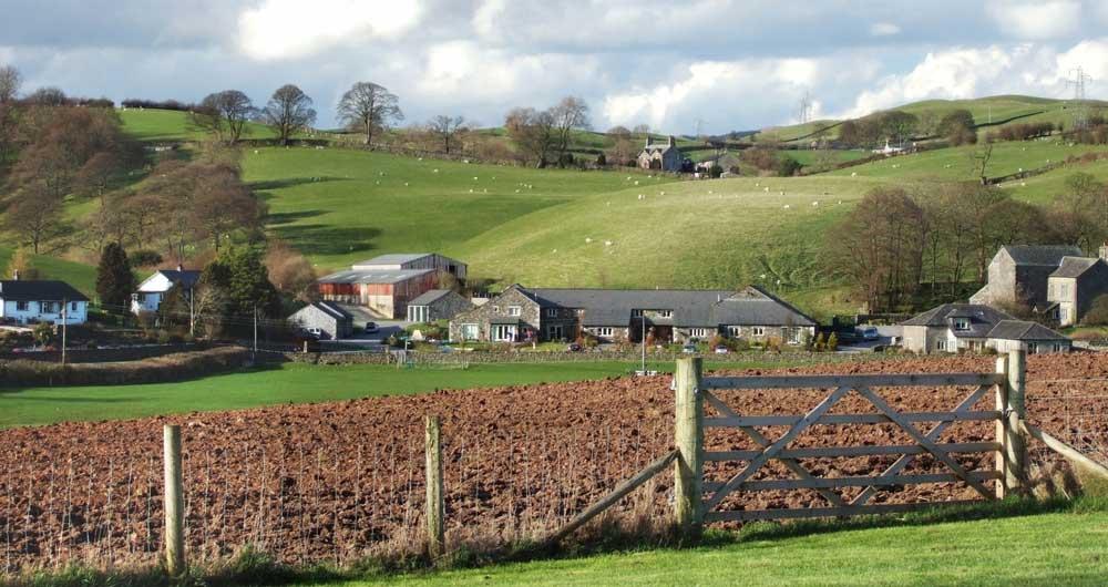 ploughed field, farm landscape