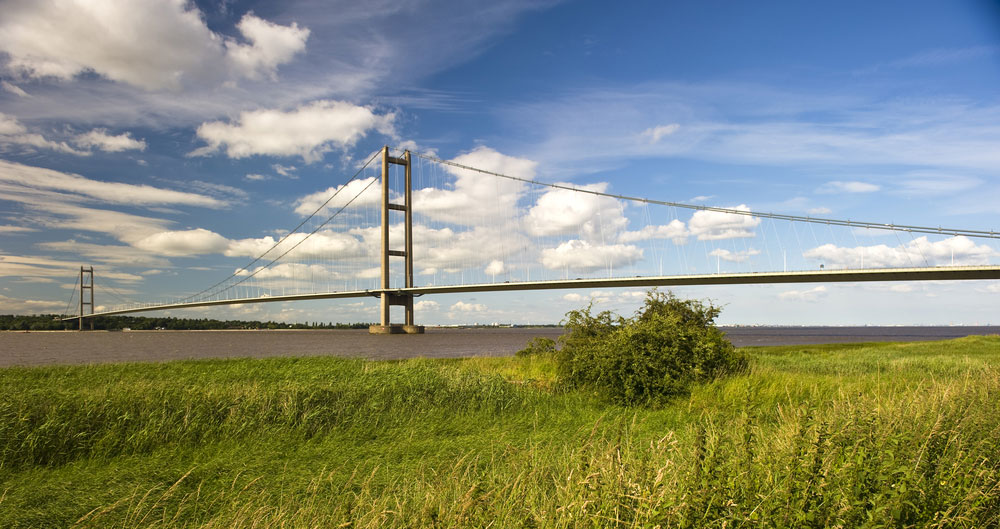 A view of the Humber Bridge