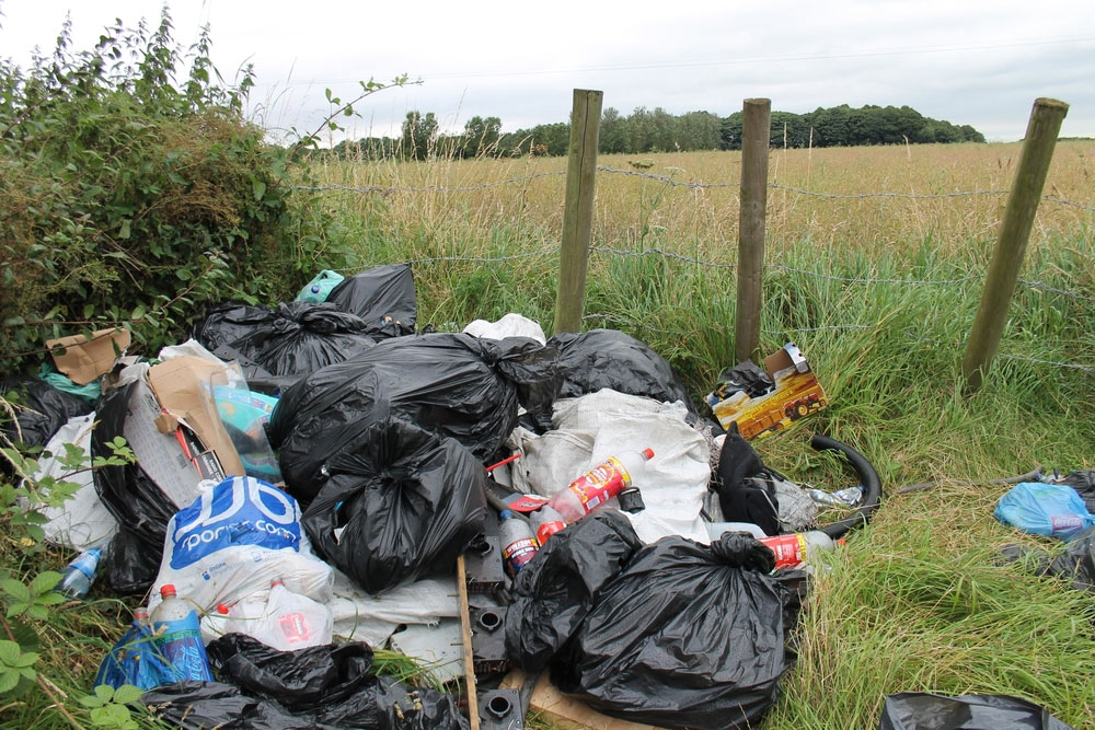 Fly tipping near Wolverhampton