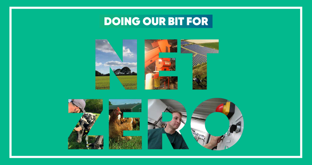 A picture showing the title of the NFU's farmer case study booklet, Doing our Bit for Net Zero
