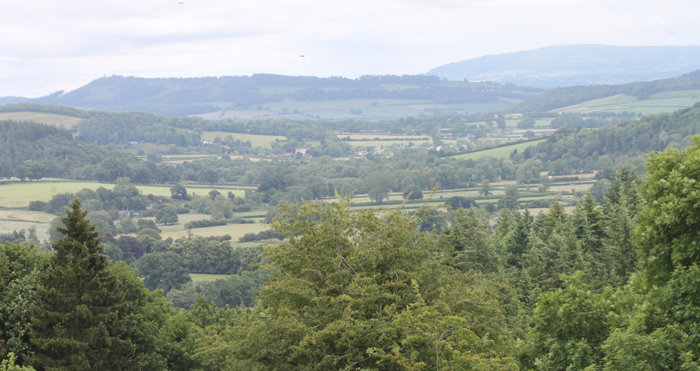 Shropshire landscape looking from Clun