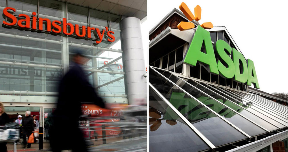 Sainsburys and Asda stores
