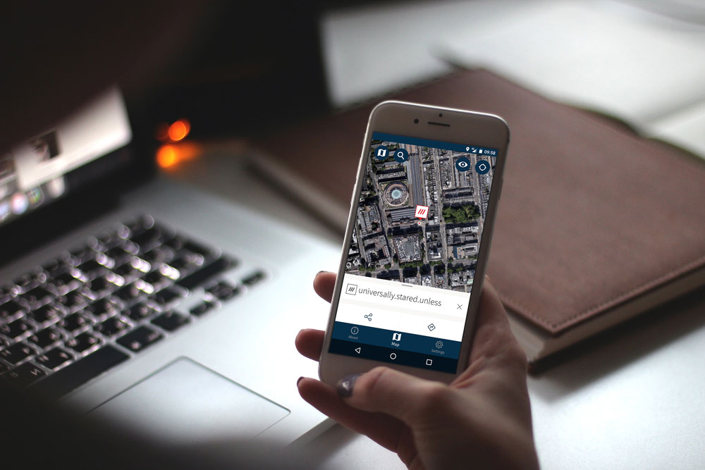 The what3words app is available to download