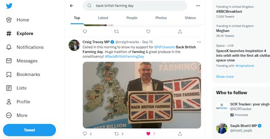 Back British Farming Day West Mids, MP Craih Tracey on Twitter