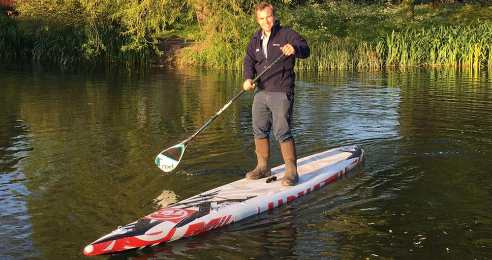 County Adviser Oliver Rubinstein takes to the water
