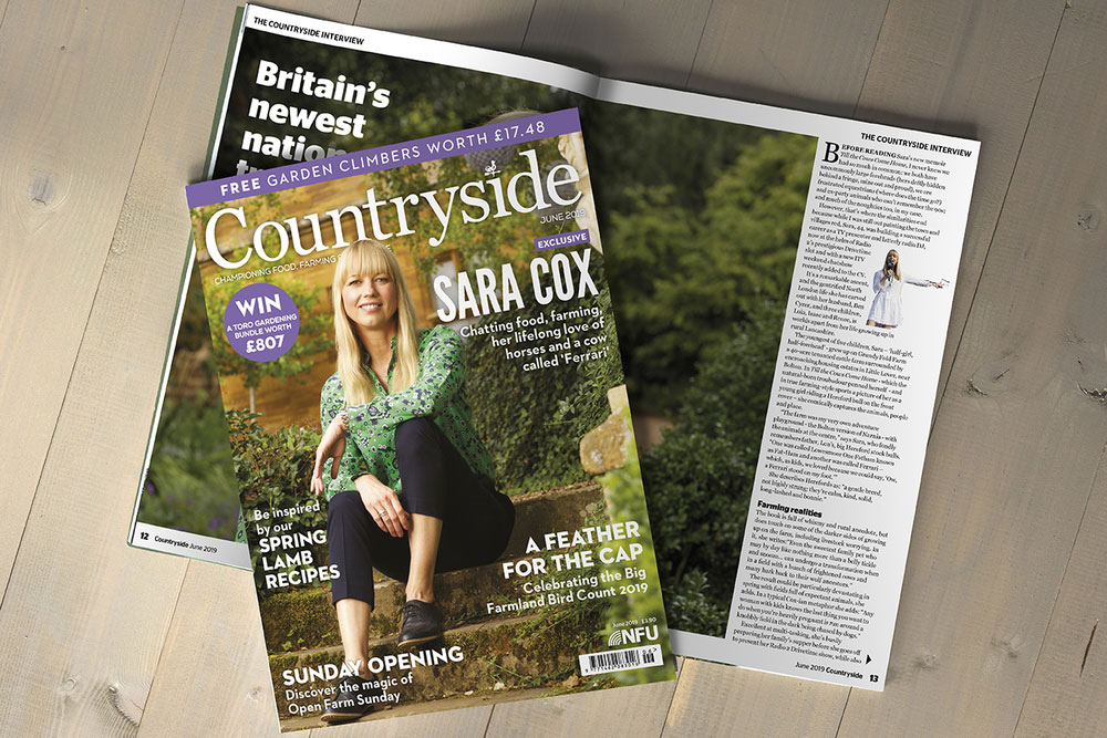 Sara Cox magazine spread