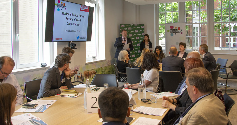 Labour party hosts Future of Food policy event at NFU's London office