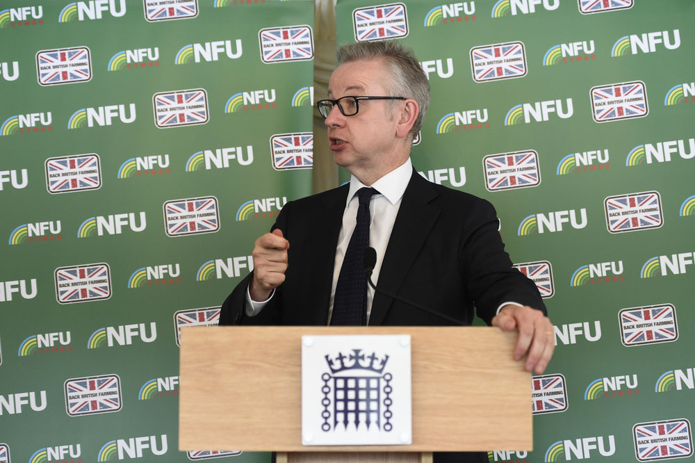 Defra Secretary of State Michael Gove speaking at the 2019 NFU Summer Reception