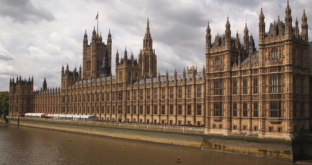The Houses of Parliament at the River Thames in London, United Kingdom.