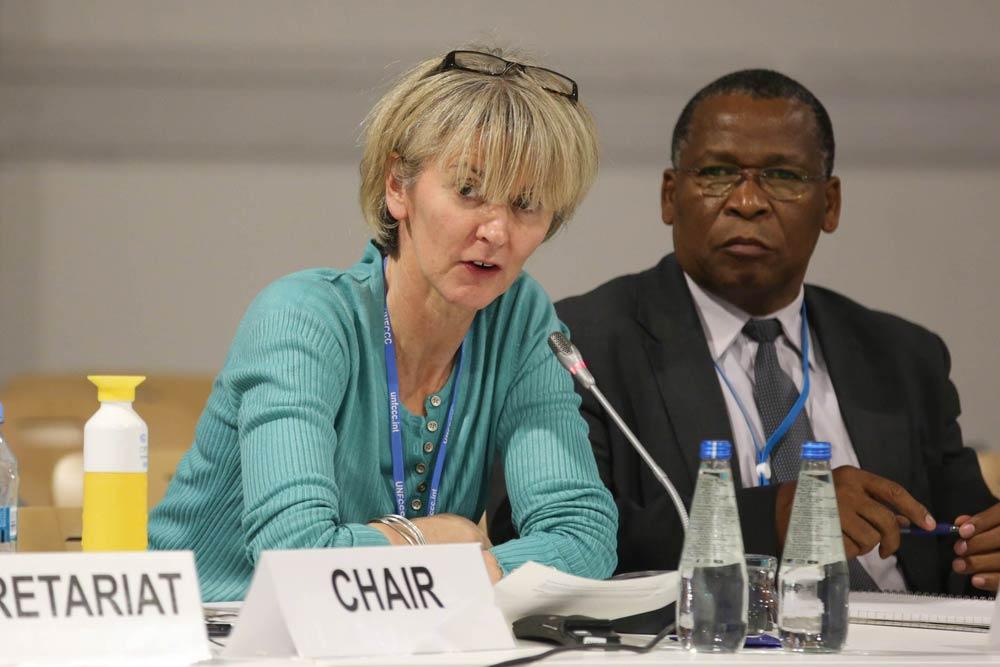 Ceris Jones at COP24 climate conference, Poland