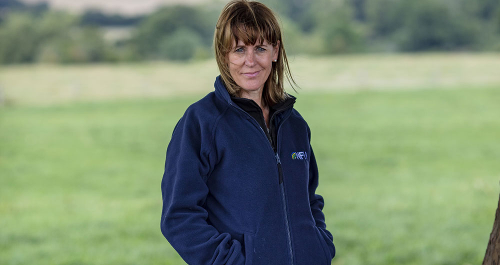 Minette Batters on her farm in Wiltshire in August 2019