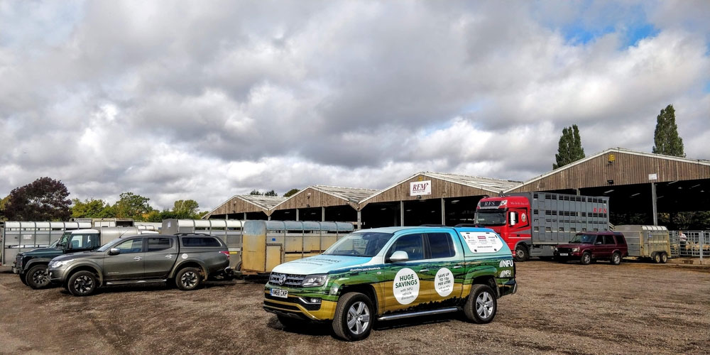 The Amarok at Rugby Livestock Market as part of the affinity roadshow