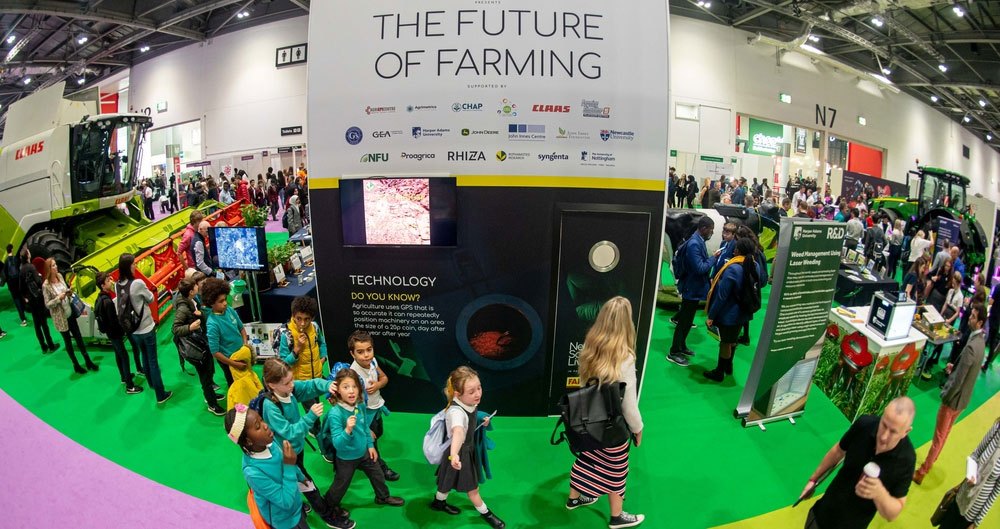 The Future of Farming exhibit at New Scientist Live, Excel, 10 October 2019