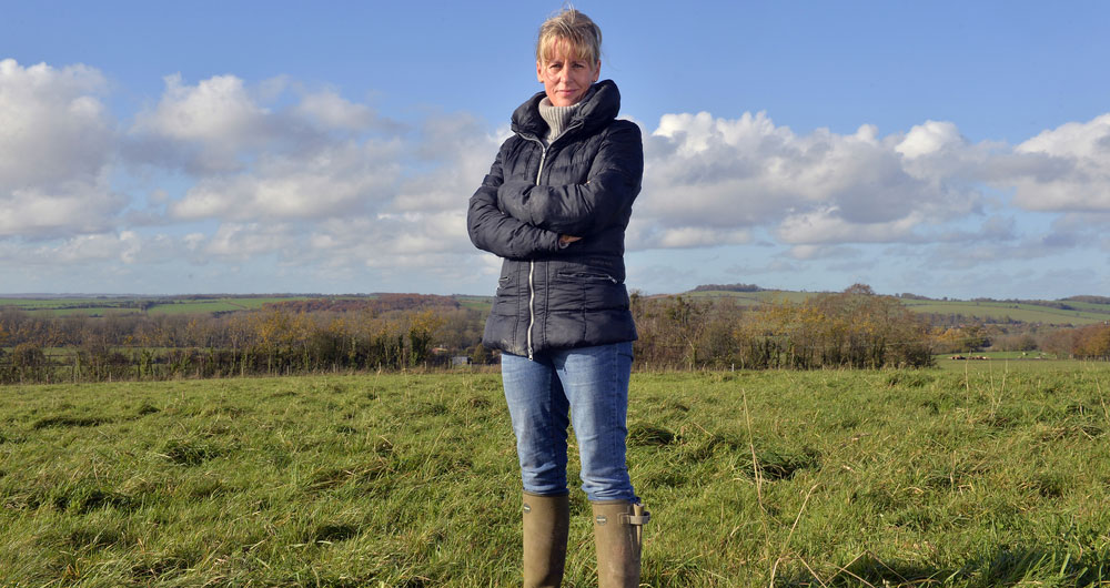 NFU President Minette Batters pictured on farm