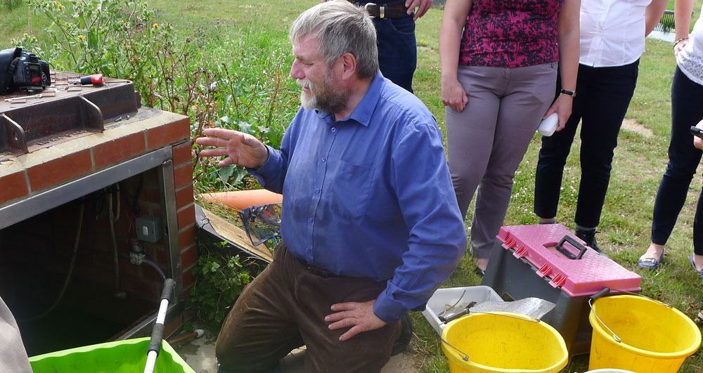 An image of an irrigation pump inspection