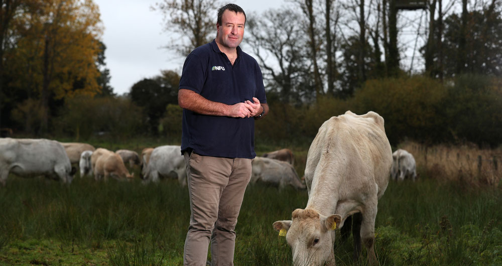 Vice President Stuart Roberts at a farm in Hertfordshire