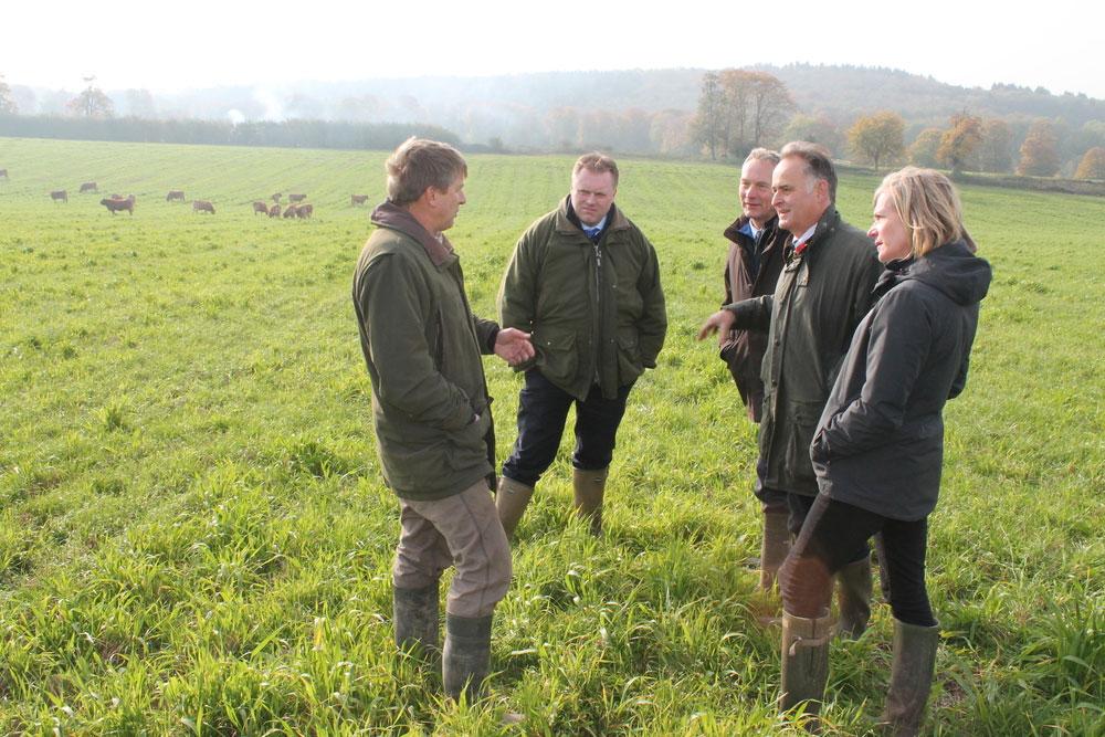 Chief Executive of Natural England Marian Spain - farm visit