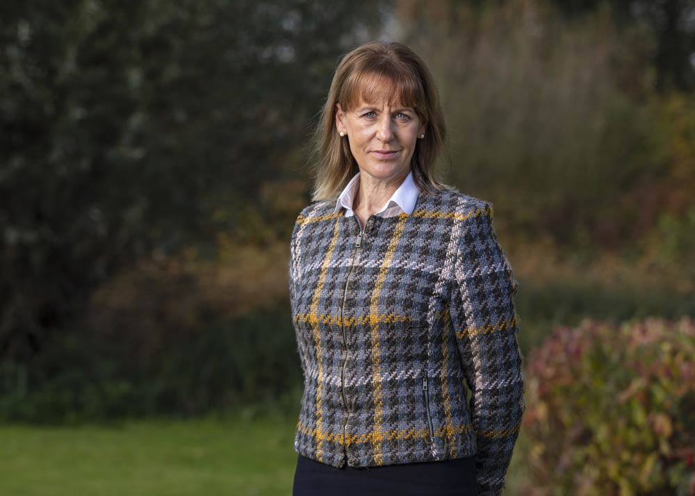 Minette Batters, NFU President, in the garden outside the head office, November 4th 2019
