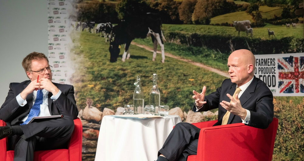 Watch now: Lord Hague discusses future of farming at Henry Plumb Lecture