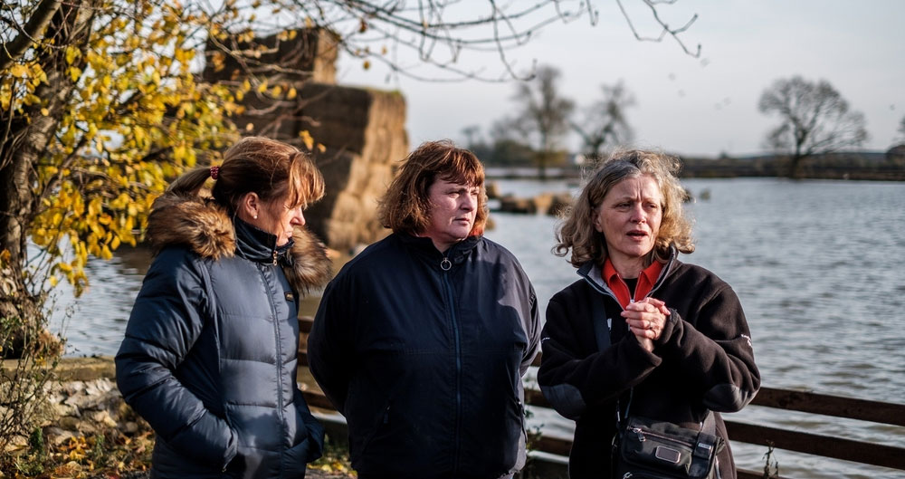 NFU President visits flooded farm with Environment Agency chair