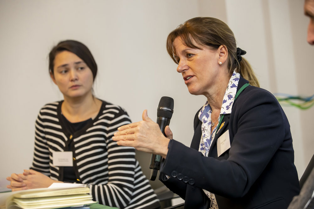 NFU President Minette Batters and Dr Michelle Cain, University of Oxford, pictured at NFU seminar on livestock and climate change