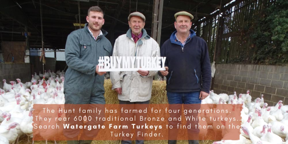 John Hunt, Henry Hunt and David Hunt - three generations of turkey farmers