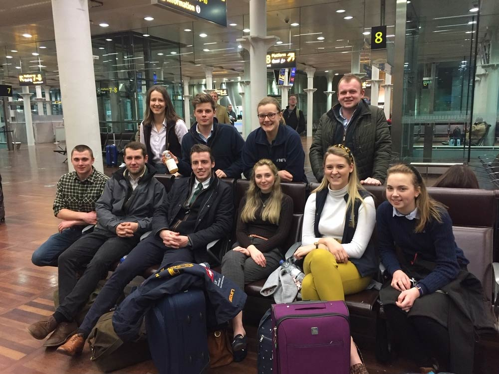 The 10 Student and Young Farmers Ambassadors on a trip to Brussels as the UK exited the EU